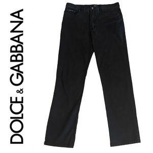 DOLCE & GABBANA high waist straight leg jeans